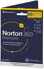 NORTON 360 PREMIUM 75GB CZ pro 1 uživatele na 10 zařízení na 12 měsíců BOX