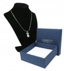 Lorenti Dámský náhrdelník Ananas s kamínky, stříbrný