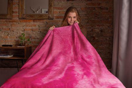 Povlečeme vše Mikro plüss takaró Rózsaszín 200x230 cm