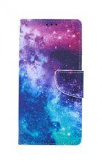 TopQ Puzdro iPhone SE 2020 Flipové Vesmír 54708