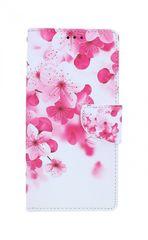 TopQ Pouzdro Samsung A51 knížkové Růžové kvítky 54347