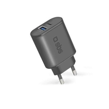 SBS Kućni punjač TYPE-C i USB FC, crni