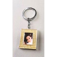 Erno Glamour Diamond privjesak za ključeve s foto okvirom, kvadrat