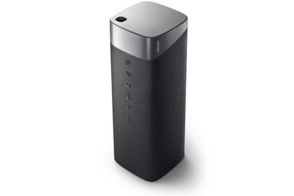 eleganten prenosni brezžični bluetooth 5.0 zvočnik philips tas7505 čisti zvok usb polnjenje powerbank funkcija glasbena moč 30 watt tws funkcija za seznanjanje z drugo enoto tkanina kvadrat na površini vzdržljivost do 20 h na polnjenje