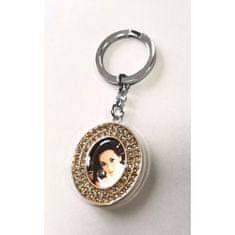 Erno Glamour Diamond privjesak za ključeve s foto okvirom, oval