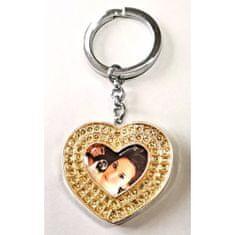 Erno Glamour Diamond privjesak za ključeve s foto okvirom, srce