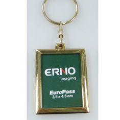 Erno Privjesak za ključeve Asti Pass s okvirom za fotografije, 3,5 x 4,5 cm, pozlaćen