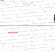 tvorme Zatváracia novoročná / vianočná pohľadnica s obálkou - Šťastný nový rok, b128 (novoročenka)
