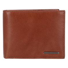 Bellugio Elegantná pánska kožená peňaženka Sima, hnedá