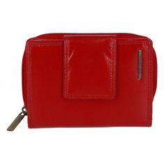 Bellugio Malá a praktická dámska kožená peňaženka Lili, červená