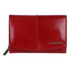 Bellugio Pekná a praktická dámska kožená peňaženka Elis, červená