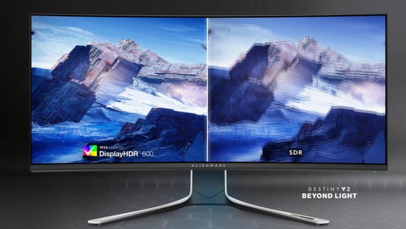 Dell Alienware AW3821DW (210-AXQM) High contrast 1 000:1 čiste globoke globoke barve 34 palcev NVIDIA G-Sync gladko gibanje