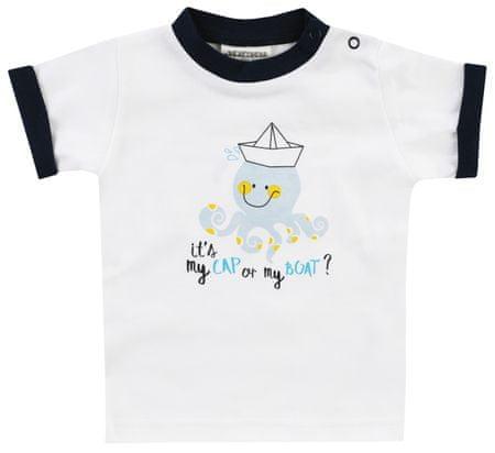 Jacky fiú póló szerves pamutból Ocean Child 1211330, 68, fehér