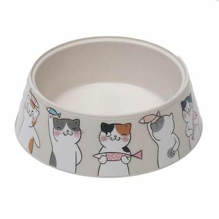 """Kraftika Miska """"miau"""" dla kotów, woda, kot, mały pies, zestaw"""