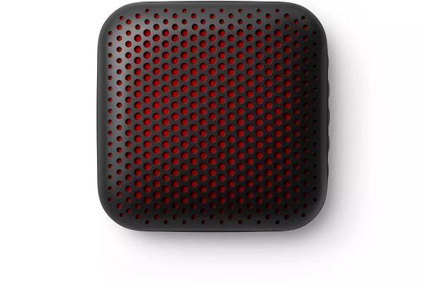stylový přenosný bezdrátový Bluetooth 5.0 reproduktor philips TAS2505 čistý zvuk handsfree funkce vestavěn mikrofon hudební výkon 3 w výdrž až 10 h na nabití led světla malé rozměry ipx7 odolnost vodě