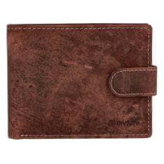 Diviley Klasická pánská kožená peněženka se zápinkou Naty, hnědá