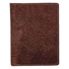 Diviley Kožená pánská peněženka na výšku Siska, hnědá
