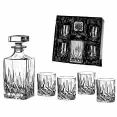Diamante Dorchester päťdielny whisky set - 4x whisky pohár a 1x whisky fľaša