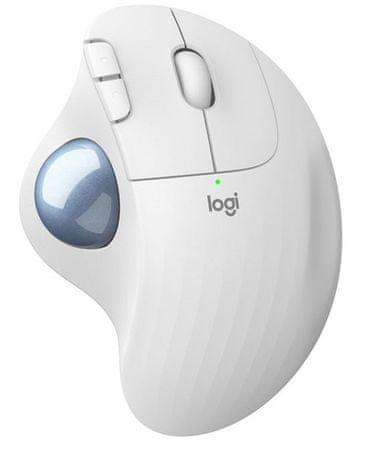 Logitech Ergo M575 brezžična miška, bela