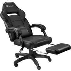 tectake Kancelářská židle s opěrkou pro nohy - černá