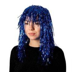 """Kraftika 2 db, karneváli paróka """"eső"""", 45 cm, kék szín"""