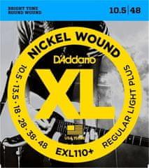 Daddario EXL110+ Nickel Wound Electric Regular Light .010.5-.048 struny na elektrickou kytaru