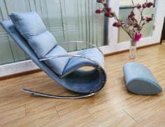 Ležaljka Irena, tkanina, plava