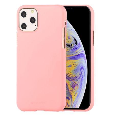 Goospery Soft Feeling ovitek za iPhone 12/12 Pro, silikonski, roza