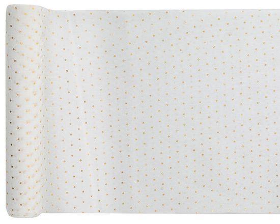 Santex Behúň biely bodkovaný 26cmx5m