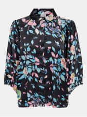 Jacqueline de Yong černá vzorovaná košile Juliette