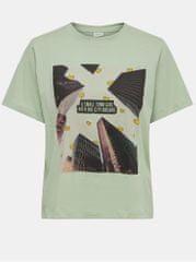 Jacqueline de Yong světle zelené tričko s potiskem Frutty
