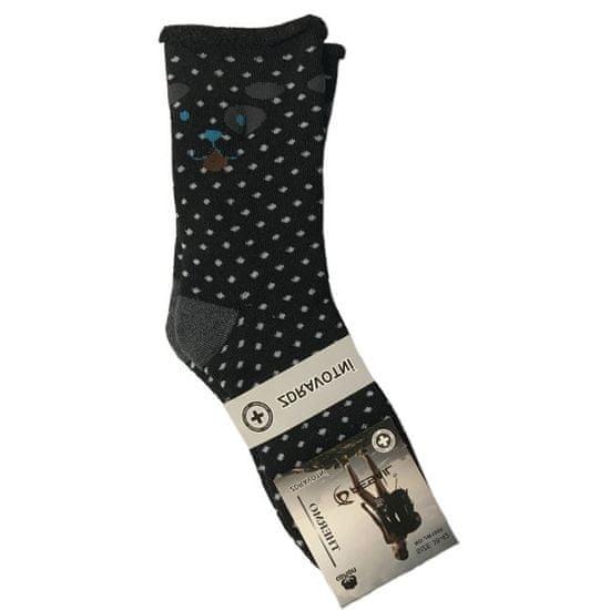 Max Zdravotní bavlněné ponožky černá + šedá vel. 38-42
