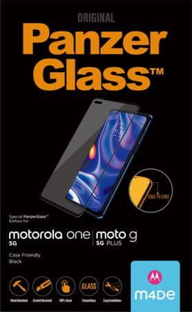 PanzerGlass szkło ochronne Edge-to-Edge dla Motorola One 5G/Moto G 5G Plus 6531, czarne