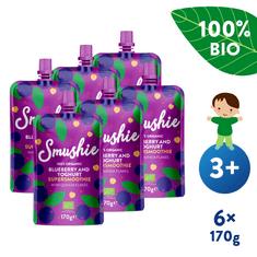 Salvest Smushie BIO Ovocné smoothie s čučoriedkami, jogurtom a quinoa (6x 170 g)