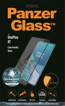 PanzerGlass Edge-to-Edge Antibacterial OnePlus 8T készülékhez 7016, fekete