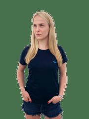 Kašmir Dámské triko CLASSIC H8 black/blue