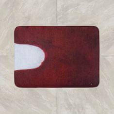 Povlečeme vše KOUPELNOVÁ PŘEDLOŽKA 50x50 cm - výkroj, Červená