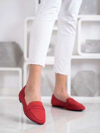 Női balerina cipő 69146 + Nőin zokni Gatta Calzino Strech, piros árnyalat, 37