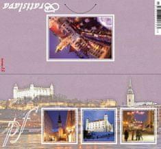 tvorme Zatváracia novoročná / vianočná pohľadnica s obálkou - pf Bratislava, b134 (novoročenka)