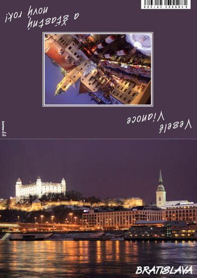 tvorme Zatváracia vianočná pohľadnica s obálkou - Bratislava III, vb03