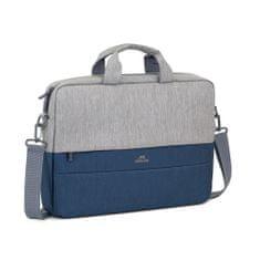 RivaCase Hátizsák 15,6″-os laptophoz, 7532-GR/DBU, szürke/kék