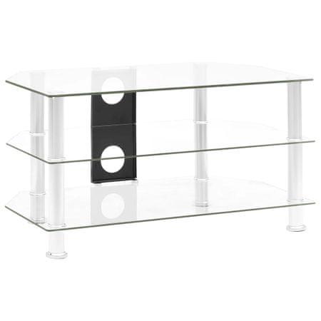 shumee Szafka pod TV, przezroczysta, 75x40x40 cm, hartowane szkło