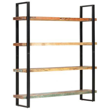 shumee Regał na książki z 4 półkami, 160x40x180 cm, drewno odzyskane