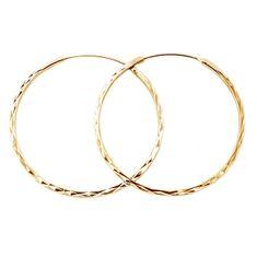 Beneto Módne pozlátené kruhové náušnice zo striebra AGUC2439 / SCS-GOLD