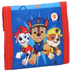 """Vadobag Detská textilná peňaženka """"Paw Patrol - Teamwork"""" - modrá"""