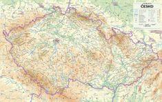 Česko - nástěnná mapa 1:500 000