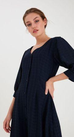 ICHI sukienka damska IHISLA DR2 20112552 34 ciemnoniebieska