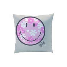 CTI CTI Obojstranný dekoračný vankúšik 40/40cm SMILEY Flowers
