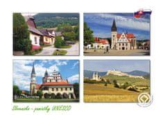 tvorme pohľadnica Slovensko - pamiatky UNESCO 01