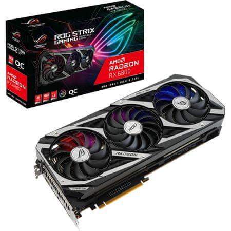 Asus ROG Strix Gaming OC Radeon RX 6800 grafična kartica, 16 GB GDDR6